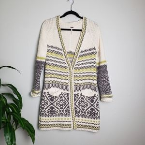 Free People Button Wool Cardigan